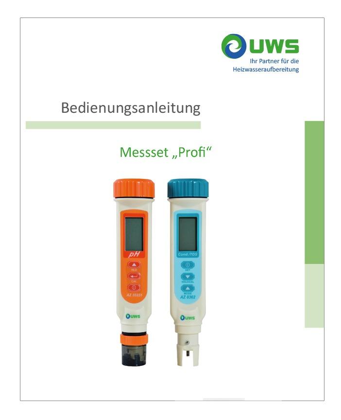 """UWS Messset """"Profi"""" Anleitung"""